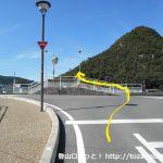 和気駅前の車道を和気富士の方に進み橋を渡る