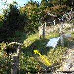 八塔寺の石段左手から八塔寺山の登山コースに入る