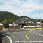 西粟倉駅から国道373号線に出たら右折