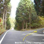 林道ダルガ峰線の入口分岐