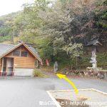 松ノ木公園(板馬見渓谷登山口)から林道に入る