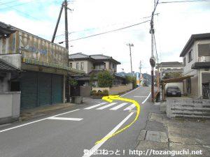 松ノ本北バス停横から右に入る