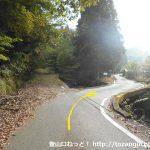新田から千ヶ峰の水谷ルートの登山口に向かう途中の林道分岐