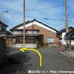 竹田駅から北側に進みT字路を左折