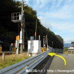 竹田駅の北側の踏切前