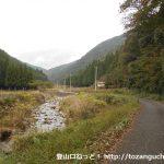 東床尾山の登山口に向かう林道