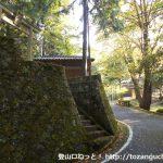 作山の八幡神社前の車道