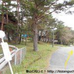 猫山前バス停前の県道250号線を道後山スキー場の方に進む