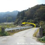 名色の蘇武岳登山口手前の橋を渡るところ