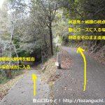 林道鬼ヶ城線の高倉稲荷大明神との分岐地点