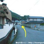 高蔵神社に行く途中の住宅街の小路