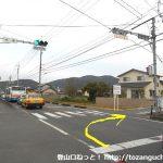 県道219号線の祇園の交差点を右折