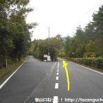 砂川公園の先の林道分岐