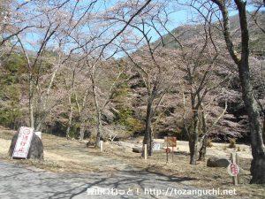 滝子山の登山口となる桜公園