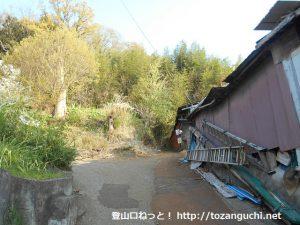 吾妻山・弘法山の鶴巻温泉側のハイキングコース入口