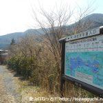 芦ノ湖西岸歩道の入口