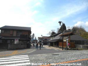 箱根関所跡の古い町並み