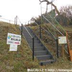 中貝津の京ヶ峯登山口のトヨトミナシの案内板