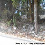 白髭八柱神社の横にある京ヶ峯登山口