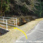 白髭八柱神社の少し先にある音羽富士登山口