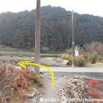 千万町口バス停から風頭山の登山口に向かう途中の農道を出たところ