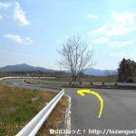 国道151号線から左に入ってすぐ左折