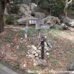 赤岩寺の本堂右側の小路の先にある赤岩寺自然歩道の道標