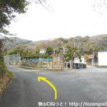 梅田親水公園の手前の浄水場前