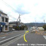 知波田駅前の国道301号線を北に進む