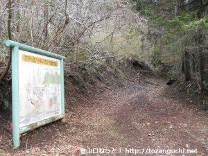 天子ヶ岳登山口(白糸の滝側)