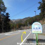 大石峠バス停から若彦トンネルの方に進む