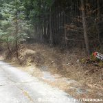 檜峯神社に向かう林道の分岐