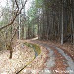 藤野木から黒岳の登山コースに向かう林道