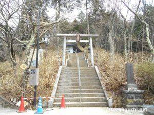 天上山護国神社の参道入口