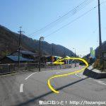 笹子駅から国道20号線を甲府方面に進む