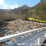 笹子変電所から清八峠に向かう登山コースに入る