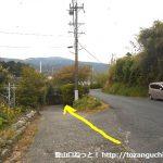 浜石岳に向かう途中の線路手前