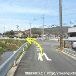 三河田原駅から滝頭公園に向かう途中で左折