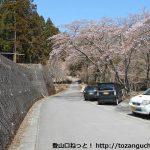 桜公園の入口から林道を奥に進む