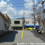 鳥沢駅北口から国道20号線に出る
