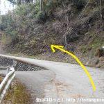 用竹から墓村に向かう車道の分岐