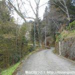 用竹から墓村に向かう道