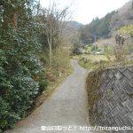 権現山の登山コースの入口(用竹側)
