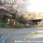 東野から八丁坂ノ頭に向かう途中の分岐