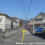 奈良井から国道413号線の方に小路を進む