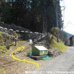 三井水源林の登山口に入る