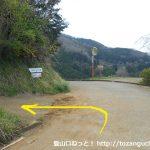 寄のしだれ桜の手前から左の坂道に入る