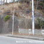 県道729号線の滝壺橋にあるミツバ岳登山口