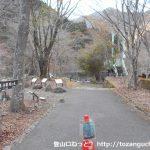 西丹沢ビジターセンター裏にある畦ヶ丸の登山口