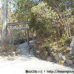 金時神社の参道入口